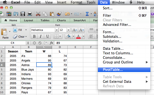 Getting started with pivot tables in excel